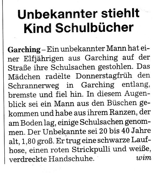 Quelle SZ-Lokalteil. 29./30 Januar 2011