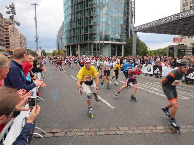 Inline Skate Marathon in Berlin, die Generalprobe für den Marathon ein Tag später.